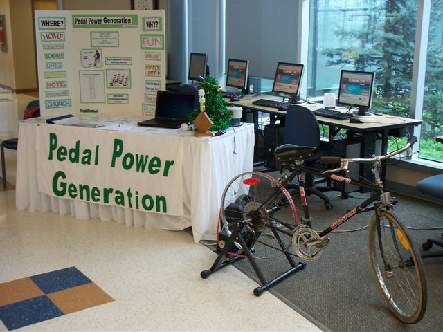 Pedal Power Generation Site Header