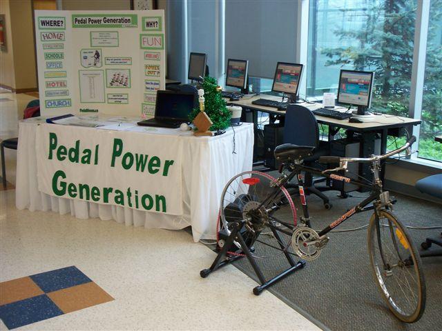Pedal Power Generation Site Header